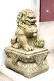 Het Beeldhouwwerk van de leeuw Stock Afbeelding