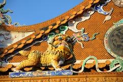 Het beeldhouwwerk van de leeuw Stock Foto's