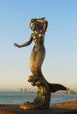 Het beeldhouwwerk van de meermin Stock Foto
