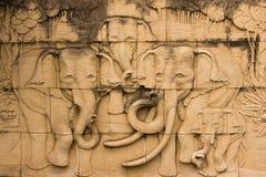 Het Beeldhouwwerk van de olifant Royalty-vrije Stock Afbeeldingen