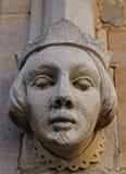 Het beeldhouwwerk van de steen met overzees en vuurtoren Stock Afbeeldingen