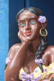 Het beeldhouwwerk van de vrouw Stock Fotografie