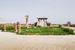 Het beeldhouwwerk van fu-Zijn en Nu Wa, Xingjiang, China royalty-vrije stock afbeelding