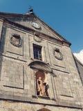 Het Beeldhouwwerk van heilige in Middeleeuwse Stad van Lerma in Spanje Stock Foto