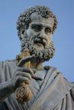 Het beeldhouwwerk van heilige Peter stock foto's