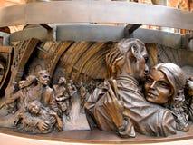 Het beeldhouwwerk van het fries op de Plaats van de Vergadering stock afbeeldingen
