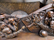 Het beeldhouwwerk van het fries op de Plaats van de Vergadering stock afbeelding