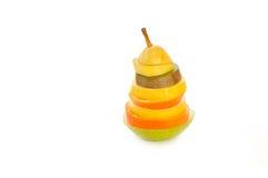 Het beeldhouwwerk van het fruit Stock Afbeelding