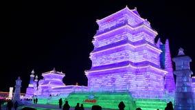 Het beeldhouwwerk van het het Ijsfestival van Harbin Royalty-vrije Stock Afbeelding