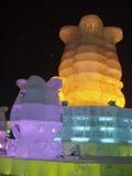 Het beeldhouwwerk van het ijs Royalty-vrije Stock Afbeelding