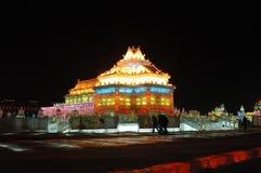 Het beeldhouwwerk van het ijs in Harbin Royalty-vrije Stock Foto