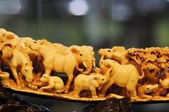 Het beeldhouwwerk van het ivoor Royalty-vrije Stock Foto
