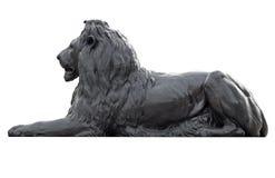 Het beeldhouwwerk van het metaal van een leeuw in Vierkant Trafalgar Royalty-vrije Stock Afbeelding