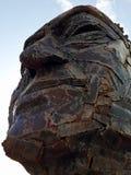 Het beeldhouwwerk van het metaalgezicht royalty-vrije stock afbeeldingen