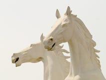 Het beeldhouwwerk van het paard Stock Foto
