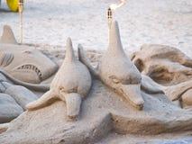 Het beeldhouwwerk van het zand Stock Afbeelding