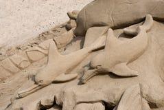 Het beeldhouwwerk van het zand Stock Foto