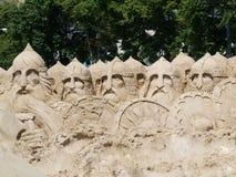 Het beeldhouwwerk van het zand    Royalty-vrije Stock Fotografie