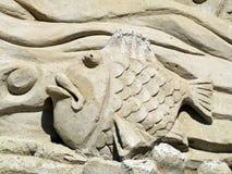 Het beeldhouwwerk van het zand Stock Foto's