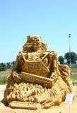 Het beeldhouwwerk van het zand van de Begeindiger Royalty-vrije Stock Foto
