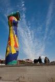 Het beeldhouwwerk van Joan Miro in Barcelona royalty-vrije stock fotografie