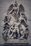 Het beeldhouwwerk van La Résistance DE 1814 op Arc de Triomphe in Parijs Royalty-vrije Stock Foto's