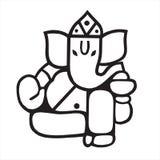 Het beeldhouwwerk van Lord Ganesh Royalty-vrije Stock Foto's