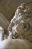 Het beeldhouwwerk van Tiber van de rivier in het Vatikaan. Stock Foto's