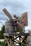 Het beeldhouwwerk van veroordeelt in Ushuaia Ushuaia is de meest zuidelijke stad in de wereld Stock Fotografie