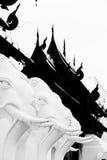 Het beeldhouwwerk van witte olifanten Stock Foto