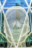 Het Beeldhouwwerkboog die van het sprookjesland Calgary Alberta Canada bouwen Stock Fotografie