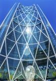 Het Beeldhouwwerkboog die van het sprookjesland Calgary Alberta Canada bouwen Stock Foto