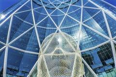 Het Beeldhouwwerkboog die van het sprookjesland Calgary Alberta Canada bouwen Royalty-vrije Stock Fotografie