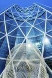 Het Beeldhouwwerkboog die van het sprookjesland Calgary Alberta Canada bouwen Royalty-vrije Stock Foto's