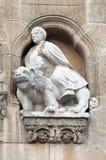 Het beeldhouwwerkdetail van de architectuur   Royalty-vrije Stock Fotografie