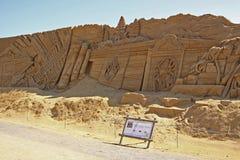 Het beeldhouwwerkmuur van het zand Royalty-vrije Stock Foto's