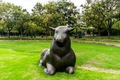 Het Beeldhouwwerkpark 2 van Shanghai Jingan royalty-vrije stock afbeelding