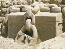 Het beeldhouwwerkschat van het zand Stock Fotografie