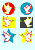 Het beeldillustratie van de duifvrede Royalty-vrije Stock Afbeeldingen