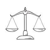 Het beeldillustratie van de rechtvaardigheidsschaal Royalty-vrije Stock Foto's