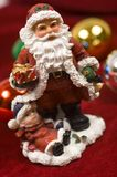 Het beeldje van de Kerstman van de Decoratie van Kerstmis stock foto