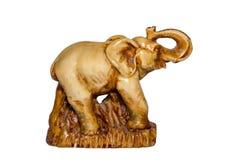 Het Beeldje van de steenolifant stock afbeeldingen