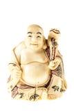Het beeldje van ivoorboedha stock foto