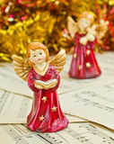 Het beeldje van Kerstmis van engelen Stock Afbeeldingen