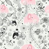 Het beeldolifanten van de textuur vector illustratie