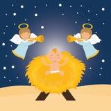 Het beeldverhaal grafisch ontwerp van het Kerstmisseizoen Royalty-vrije Stock Foto