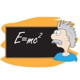 Het beeldverhaal van Albert Einstein stock illustratie