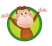 Het beeldverhaal van de aap Royalty-vrije Stock Afbeeldingen