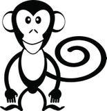 Het beeldverhaal van de aap Stock Foto