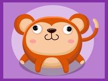 Het beeldverhaal van de aap Grappig beeldverhaal en vector dierlijke karakters Royalty-vrije Stock Afbeelding
